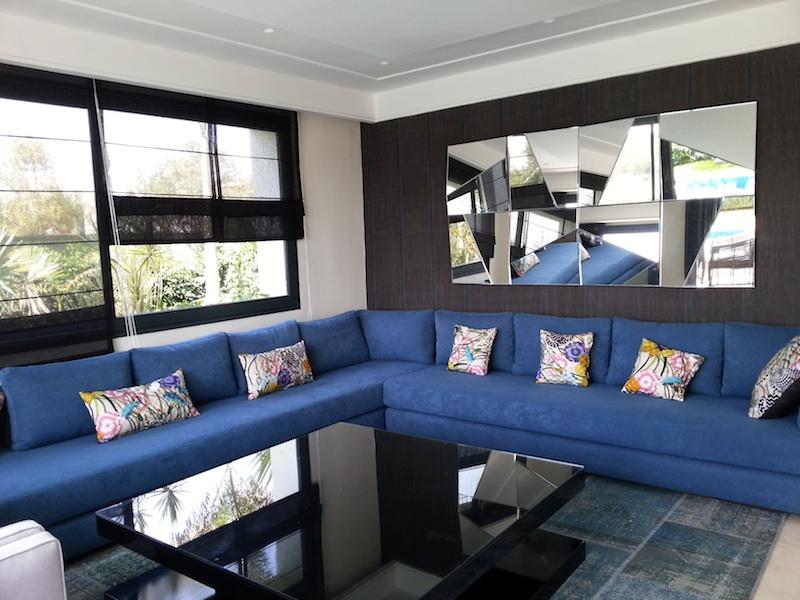 R sidentiel a p interiors for Salon marocain bleu roi